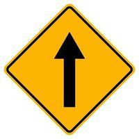andare dritto segnale stradale su sfondo bianco vettore