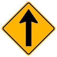 i segnali di pericolo vanno dritti su sfondo bianco vettore