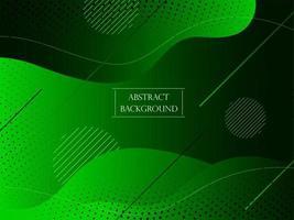 sfondo elegante liscio astratto geometrico verde vettore