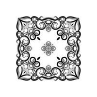 etnico mandala decorativo design sfondo isolato vettore