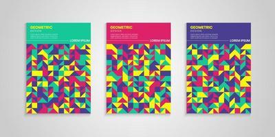 set di sfondo colorato copertine geometriche vettore
