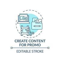 creazione di contenuti per l'icona del concetto di promozione vettore