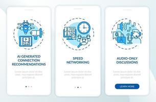 eventi remoti per il collegamento in rete della schermata della pagina dell'app mobile con concetti vettore