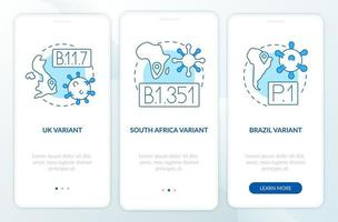 tipi di virus che accedono alla schermata della pagina dell'app mobile con concetti vettore