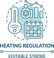 icona del concetto di regolazione del riscaldamento vettore