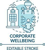 icona del concetto di benessere aziendale vettore
