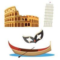 Italia set di icone vettore