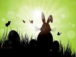Sagoma coniglietto di Pasqua vettore