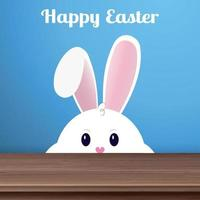 coniglietto di Pasqua con le guance spesse e buone feste - vettore