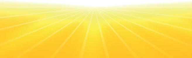 sole splendente su uno sfondo giallo-arancio - illustrazione vettore