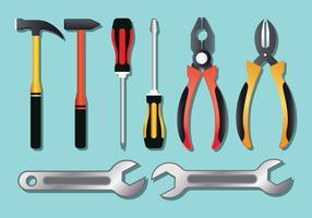 Set di strumenti realistici vettore
