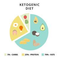 Illustratore di vettore di dieta chetogenica