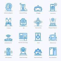 set di icone iot e high tech vettore
