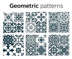 disegno di motivi geometrici in illustrazione vettoriale