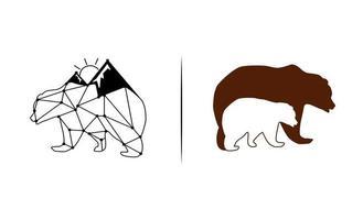 orso logo simbolo disegno vettoriale illustrazione