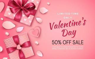 banner di promozione di san valentino vettore