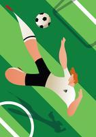 Illustrazione del calciatore della coppa del Mondo dell'Inghilterra