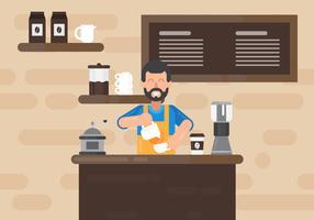 Illustrazione vettoriale di barista