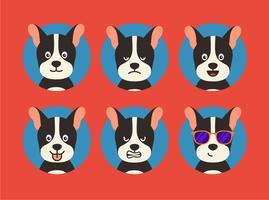 Espressioni di cani vettore