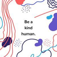 Sfondo colorato arte astratta con citazione motivazionale vettore