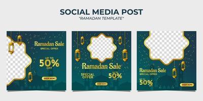 post sui social media di vendita di Ramadan vettore