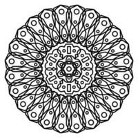mandala con ornamenti. mandala per la pagina del libro da colorare. vettore