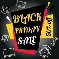 venerdì nero. stock illustrazione vettoriale. logo vettore