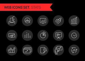 clipart vettoriali di icone alla moda. analitica