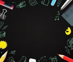 matite e scarabocchi elementi. copia spazio per un testo vettore