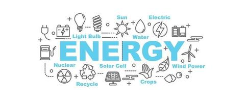 banner vettoriale di energia