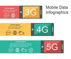 infografica di dati mobili vettore