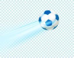 pallone da calcio realistico vettore