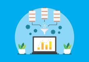 Concetto di elaborazione del data mining vettore