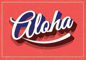 aloha tipografia retrò vettore
