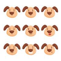 Vettore di emozioni di cane carino