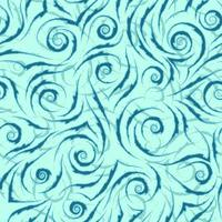 stock modello vettoriale senza soluzione di continuità di linee fluide blu con bordi strappati su uno sfondo turchese.