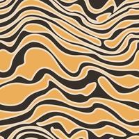 Vector seamless pattern e linee morbide orizzontali in arancione con tratto.