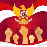 concetto di indonesia pancasila day vettore