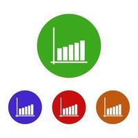 icona di analisi su priorità bassa bianca vettore