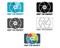 Shutter Icona o modello di progettazione del logo. Badge fotocamera e lente. Mantieni il tema del momento. Isolato su sfondo bianco Design semplice Vettore