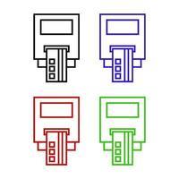 Icona di bancomat su sfondo bianco vettore