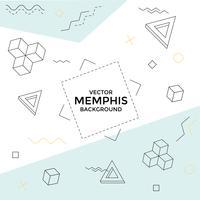 Sfondo di Memphis con forme geometriche vettore