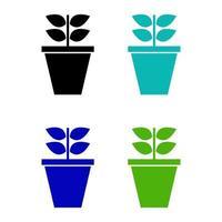 Icona di pianta isometrica su priorità bassa bianca vettore