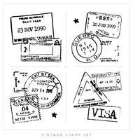 Collezione di francobolli d'epoca vettore