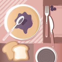 Illustrazione di pancakes di vettore
