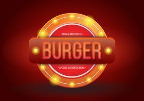 Vintage Burger o Restaurant Signs. Retro Vintage Burger or Restaurant Sign. vettore