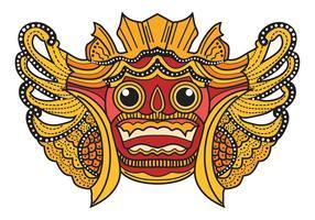 Maschera di Bali Barong vettore