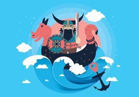 vettore di sfondo viking