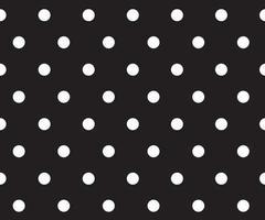 vettore di sfondo modello a pois bianco e nero