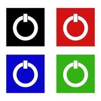 icona del pulsante di accensione sullo sfondo vettore
